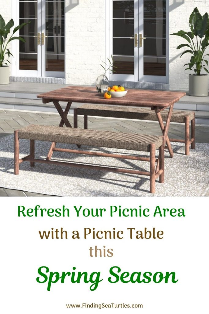 Refresh Your Picnic Area with a Picnic Table this Spring Season #Picnic #PicnicTables #Backyard #FamilyPicnic #FamilyFun #BackyardPicnicTable #BeachHouse #SummerHouse #LakeHouse #CoastalHome #Summer