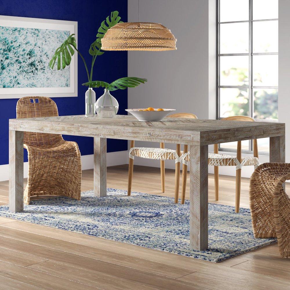 Rosedale Acacia Wood Dining Table #Coastal #DiningRoom #DiningTables #DinnerTable #CoastalDiningRoom #CoastalDiningSets #CoastalDecor #CoastalHomeDecor #BeachHouse #SeasideStyle #LakeHouse #SummerHouse #DiningRoomAccessories