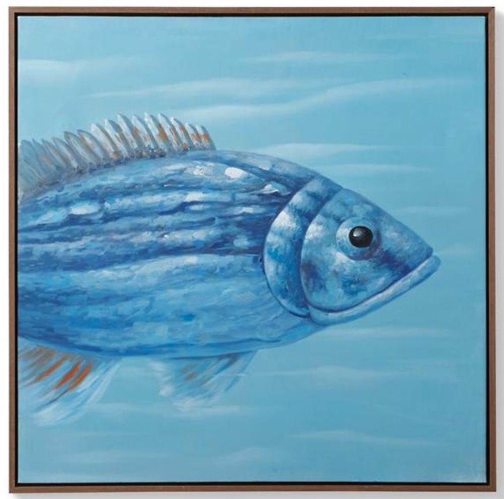 Coastal Wall Art Señor Pez Handpainted Oil on Canvas #Art #WallArt #WallArtIdeas #CoastalArt #CoastalWallArt #Entryway #HomeDecor #ConsoleTableDecor #LivingRoomArt #ArtFortheHome #HomeDecorTips #StylingTips