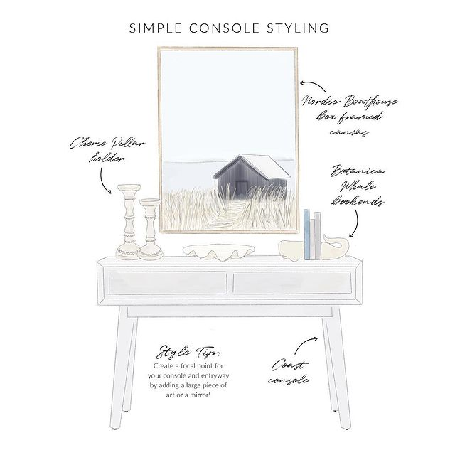 Simple Console Styling Tips #StyleAConsoleTable #Entryway #Foyer #ConsoleTable #HomeDecor #ConsoleTableDecor #HallwayTable #HomeDecorTips #StylingTips