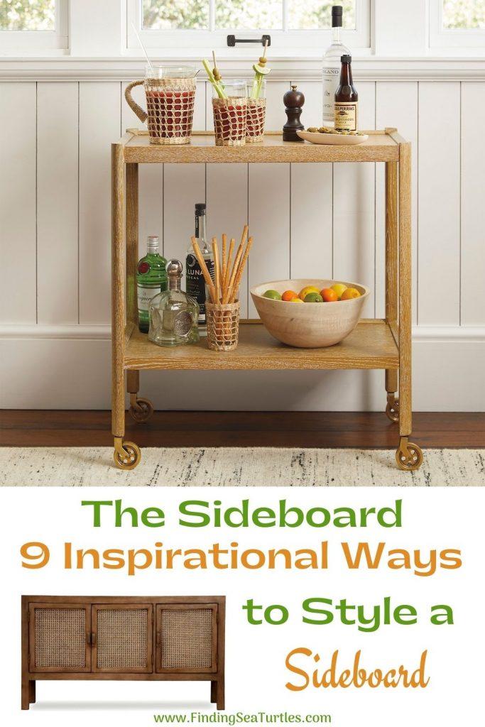 The Sideboard 9 Inspirational Ways to Style a Sideboard #Coastal #DiningRoom #Sideboard #Buffet #CoastalSideboard #CoastalDiningRoom #CoastalDiningSets #CoastalDecor #CoastalHomeDecor #BeachHouse #SeasideStyle #LakeHouse #SummerHouse #DiningRoomAccessories