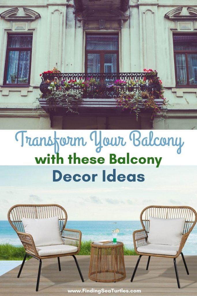 Transform Your Balcony with these Balcony Decor Ideas #Balcony #BalconyDecor #BalconyDecorIdeas #CoastalBalcony #HomeDecor #AtHomeontheBalcony #HomeDecorTips #BalconyHome