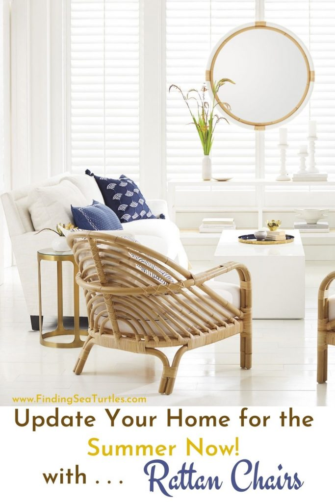 Update your Home for the Summer Now with Rattan Chairs #RattanChairs #AccentChairs #CoastalAccentChairs #Coastal #LivingRoom #Bedroom #HomeDecor #BeachHouse #SummerHouse #LakeHouse #CoastalHome