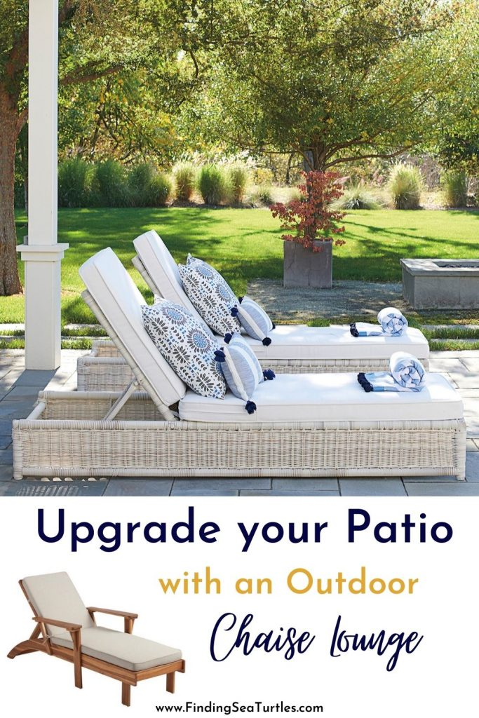 Upgrade your Patio with an Outdoor Chaise Lounge #ChaiseLounge #Pool #PoolSide #Patio #Summer #OutdoorSpaces #Backyard #PatioDecor #PatioFurniture #SummerHouse #CoastalHome #BeachHouse #LakeHouse #IslandHome #OutdoorLiving #BeachHouseStyle #BeachHouseDecor