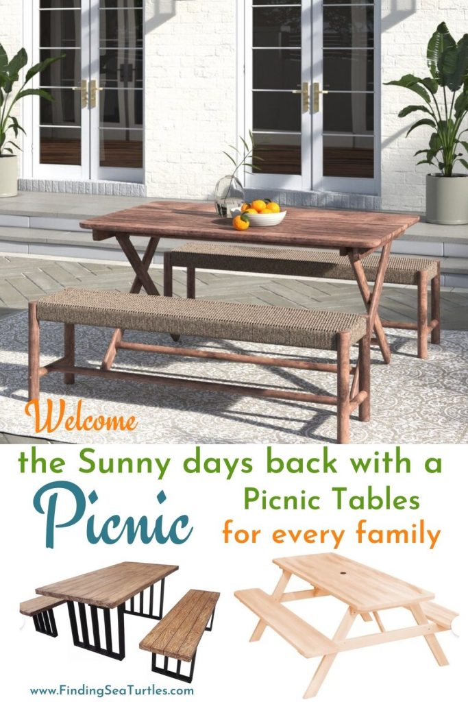 Welcome the Sunny day back with a Picnic Picnic Tables for every family #Picnic #PicnicTables #Backyard #FamilyPicnic #FamilyFun #BackyardPicnicTable #BeachHouse #SummerHouse #LakeHouse #CoastalHome
