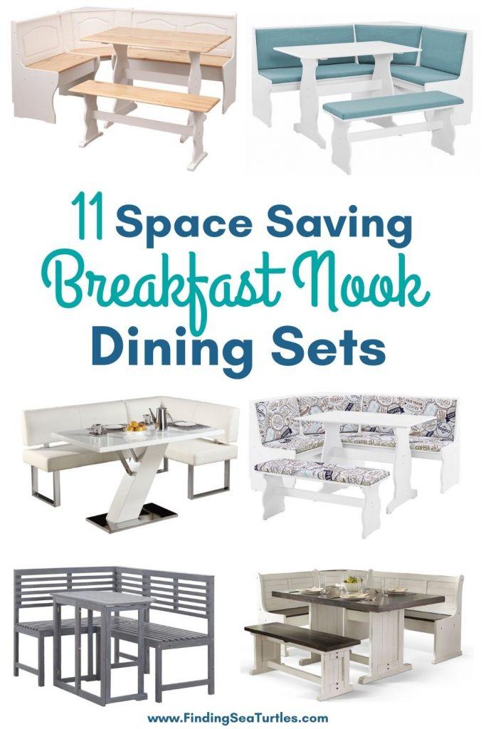 11 Space Saving Breakfast Nook Dining Sets #Coastal #DiningRoom #BreakfastNook #DiningSets #CoastalDiningRoom #CoastalDiningSets #CoastalDecor #CoastalHomeDecor #BeachHouse #SeasideStyle #LakeHouse #SummerHouse