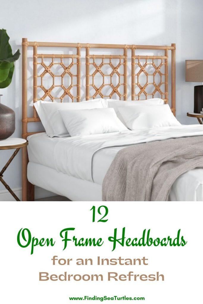 12 Open Frame Headboards for an instant Bedroom Refresh #Coastal #Beds #Headboards #RattanHeadboards #BedRoom #CoastalBeds #CoastalBedroom #CoastalDecor #CoastalHome #CoastalLiving #BeachHouse #SeasideStyle #LakeHouse #SummerHouse #BohoDecor