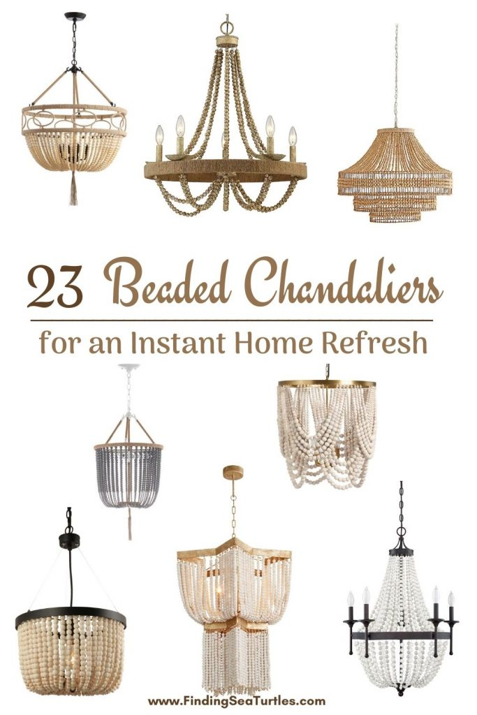 23 Beaded Chandelier for an Instant Home Refresh #Coastal #Boho #Chandeliers #BeadedChandeliers #CoastalLighting #CoastalDecor #DiningRoom #Entryway #Foyer #DecorIdeas #Inspo #CoastalLiving #HomeDecorTipsAndTricks #HomeDecor
