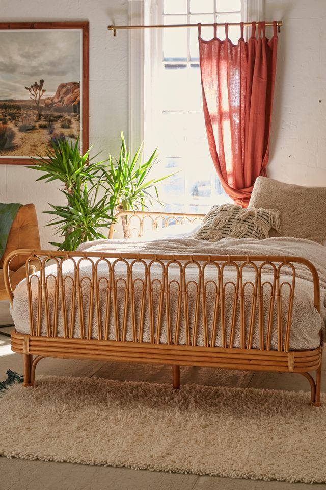 Canoga Rattan Bed #Coastal #Beds #BedRoom #CoastalBeds #CoastalBedroom #CoastalDecor #CoastalHome #CoastalLiving #BeachHouse #SeasideStyle #LakeHouse #SummerHouse #CoastalBohoDecor