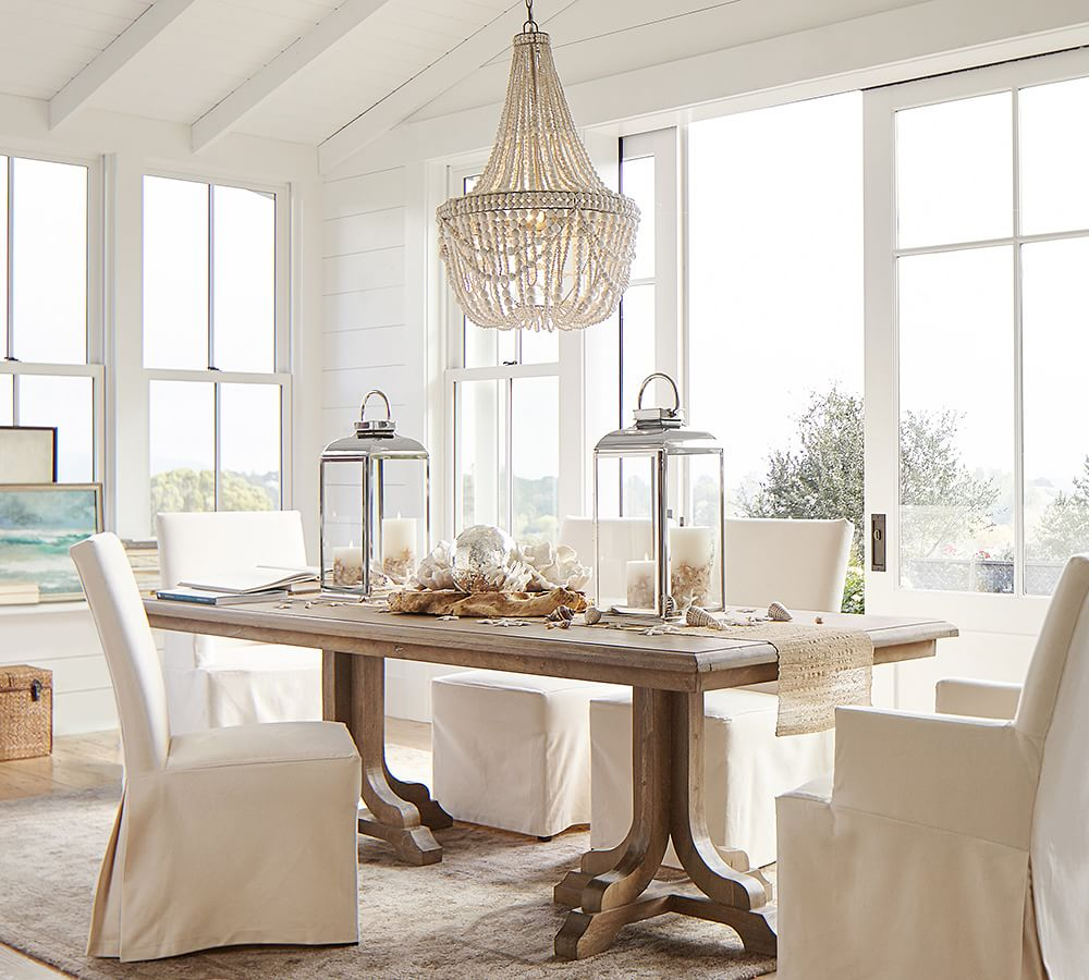 Beaded Chandeliers Francesca Wood Bead Chandelier #Coastal #Boho #Chandeliers #BeadedChandeliers #CoastalLighting #CoastalDecor #DiningRoom #Entryway #Foyer #DecorIdeas #Inspo #CoastalLiving #HomeDecorTipsAndTricks #HomeDecor