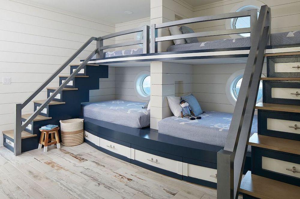 Inspirational Coastal Bunk Beds Inspo 1 #Coastal #Beds BunkBeds #CoastalBunkBeds #BedRoom #Sleepovers #CoastalBeds #CoastalBedroom #CoastalDecor #CoastalHome #CoastalLiving #BeachHouse #SeasideStyle #LakeHouse #SummerHouse #CoastalBohoDecor