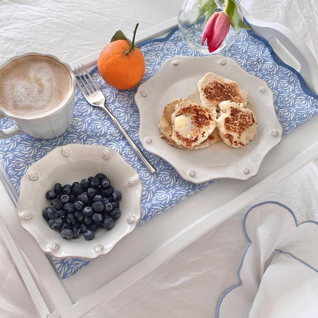 Breakfast Bed Trays Inspo 4 2 via dti.sydney #Coastal #Trays #BreakfastTrays #BreakfastInBed #BedTrays #BreakfastBedTrays #HomeDecor #CoastalHomeDecor #CoastalHome #CoastalLiving #BeachHouse #SeasideStyle #LakeHouse #SummerHouse #CoastalBohoDecor