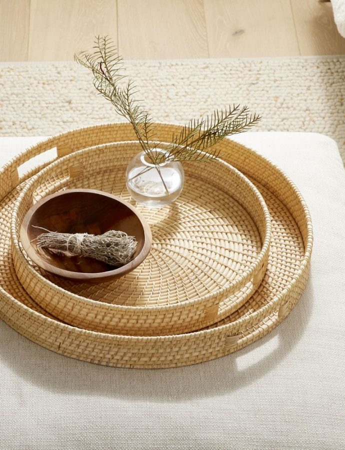 27 Coastal Rattan Trays for Home Decor