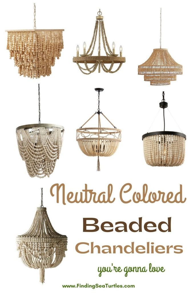 Neutral Colored Beaded Chandeliers you re gonna love #Coastal #Boho #Chandeliers #BeadedChandeliers #CoastalLighting #CoastalDecor #DiningRoom #Entryway #Foyer #DecorIdeas #Inspo #CoastalLiving #HomeDecorTipsAndTricks #HomeDecor