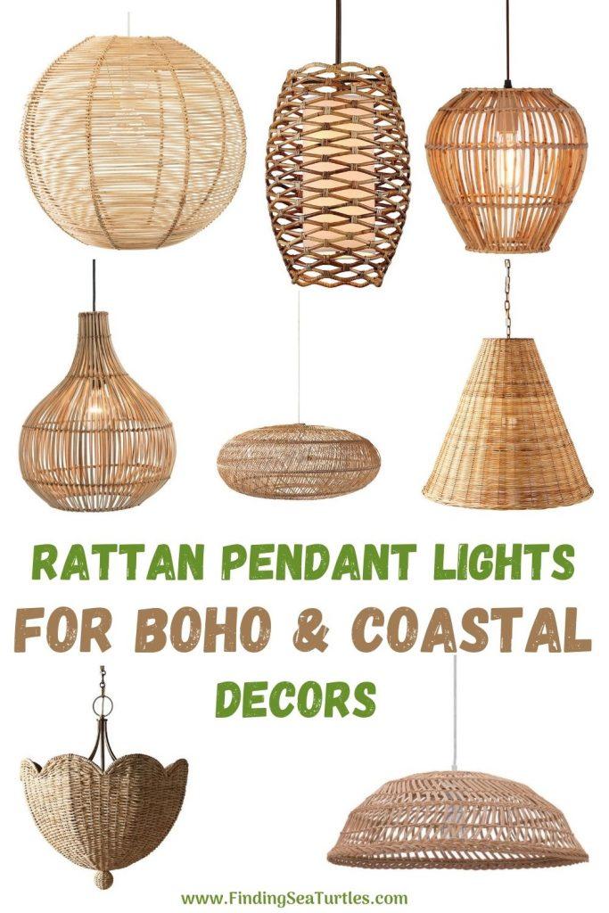 Rattan Pendant Lights for Boho Coastal Decors #Coastal #Rattan #RattanPendant #Pendants #PendantLighting #DiningRoom #CoastalDiningRoom #CoastalKitchen #CoastalDecor #CoastalHomeDecor #BeachHouse #SeasideStyle #LakeHouse #SummerHouse