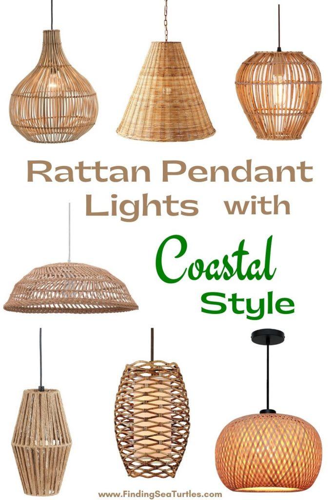Rattan Pendant Lights with Coastal Style #Coastal #Rattan #RattanPendant #Pendants #PendantLighting #DiningRoom #CoastalDiningRoom #CoastalKitchen #CoastalDecor #CoastalHomeDecor #BeachHouse #SeasideStyle #LakeHouse #SummerHouse