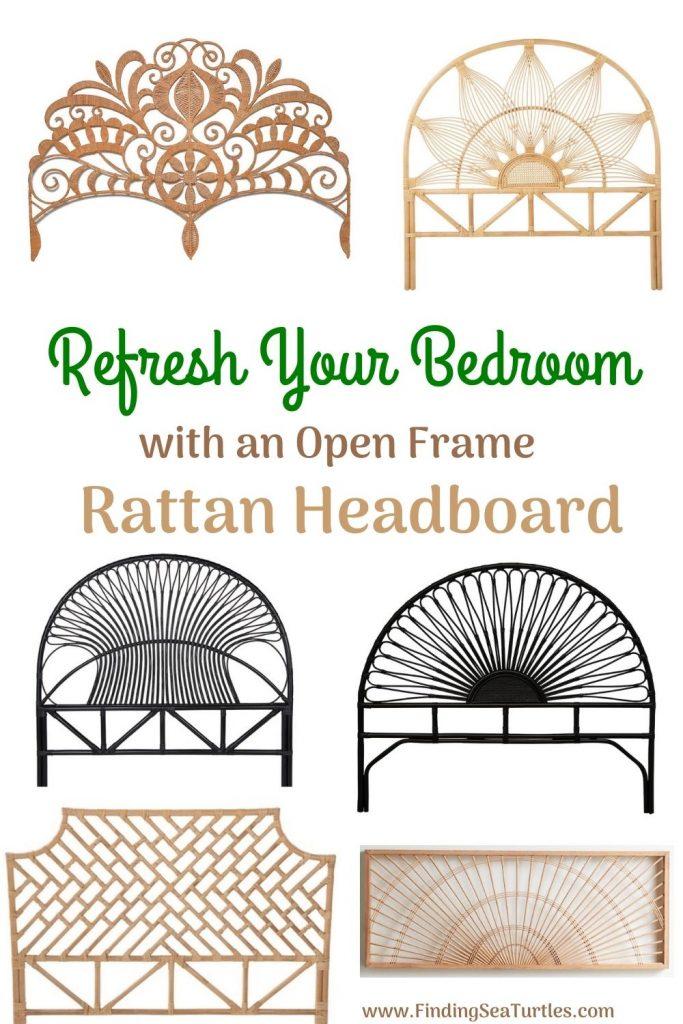 Refresh Your Bedroom with an Open Frame Rattan Headboard #Coastal #Beds #Headboards #RattanHeadboards #BedRoom #CoastalBeds #CoastalBedroom #CoastalDecor #CoastalHome #CoastalLiving #BeachHouse #SeasideStyle #LakeHouse #SummerHouse #BohoDecor