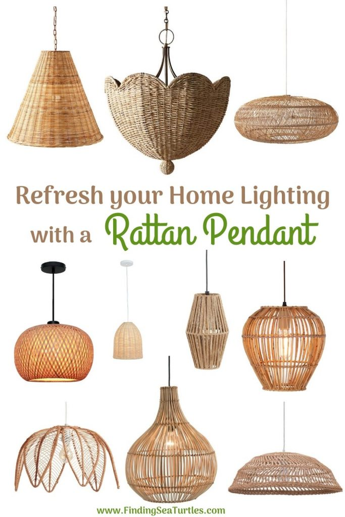 Refresh your Home Lighting with a Rattan Pendant #Coastal #Rattan #RattanPendant #Pendants #PendantLighting #DiningRoom #CoastalDiningRoom #CoastalKitchen #CoastalDecor #CoastalHomeDecor #BeachHouse #SeasideStyle #LakeHouse #SummerHouse