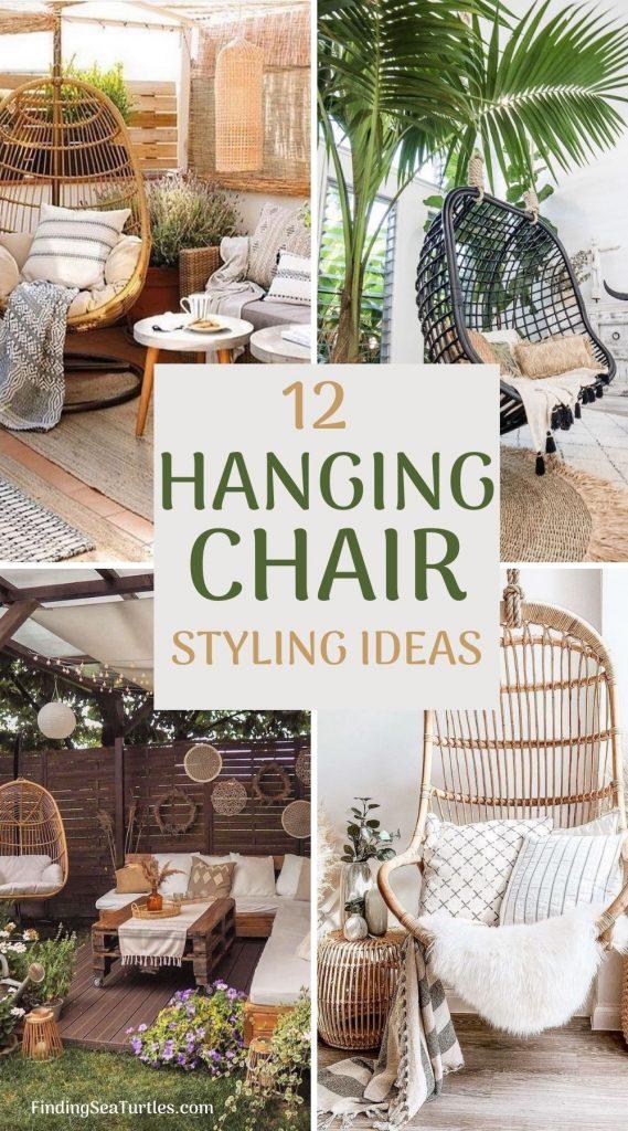 12 Hanging Chair Styling Ideas #HangingChair #HangingRattanChair #CoastalChair #CoastalDecor #BeachHouse