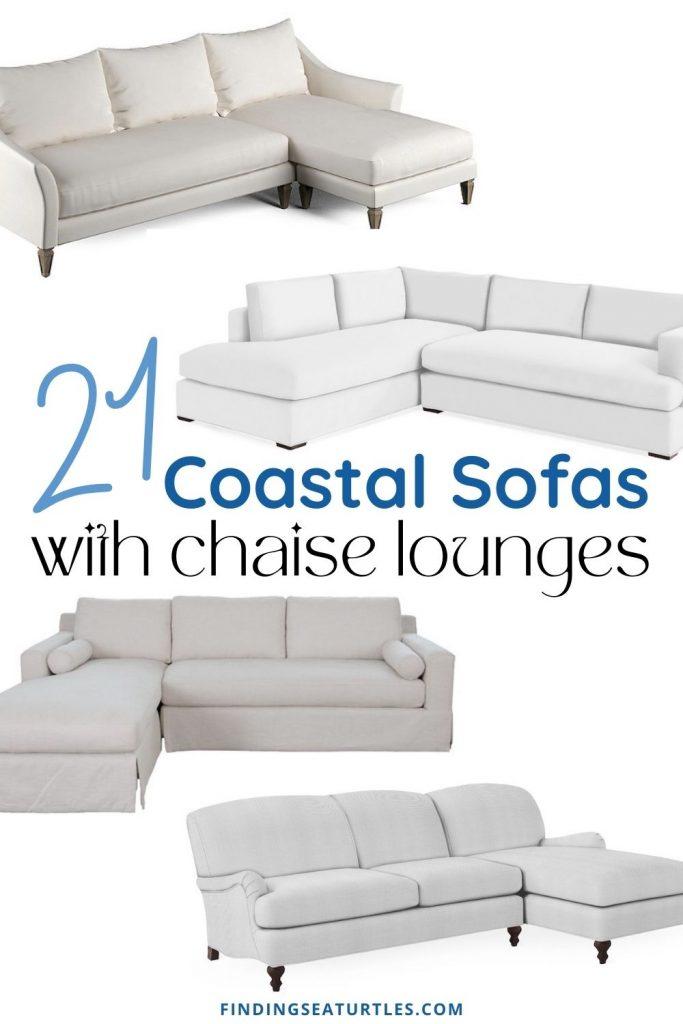 21 Coastal Sofas with chaise lounges #Coastal #Sofas #CoastalSofas #CoastalSofasChaiseLounge #LivingRoom #CoastalLivingRoom #SofawithChaiseLounge #CoastalDecor #HomeDecor #CoastalHomeDecor #CoastalHome #CoastalLiving #BeachHouse #SeasideStyle #LakeHouse #SummerHouse