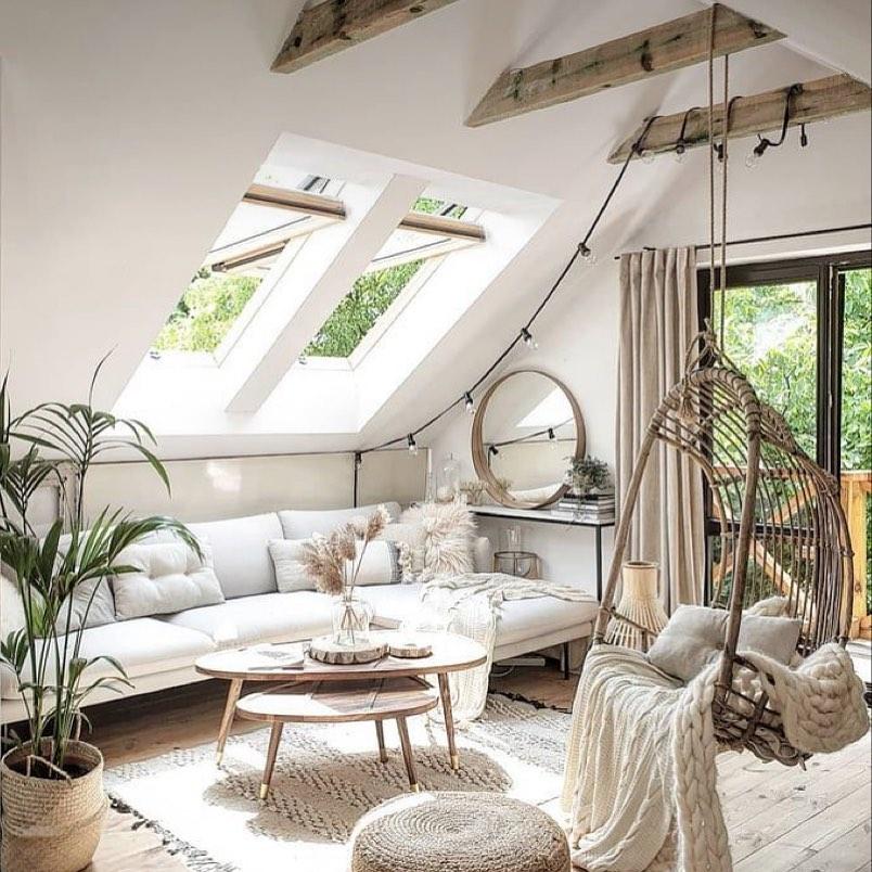 Hanging Chair Styling Ideas Inspo 3 #HangingChair #HangingRattanChair #CoastalChair #CoastalDecor #BeachHouse