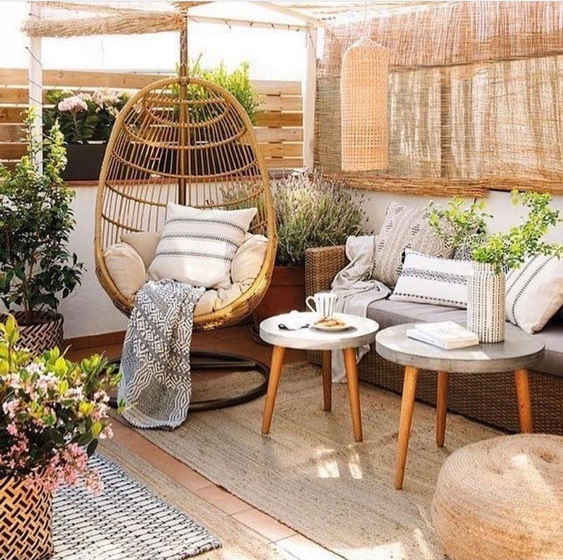 Hanging Chair Styling Ideas Inspo 4 #HangingChair #HangingRattanChair #CoastalChair #CoastalDecor #BeachHouse