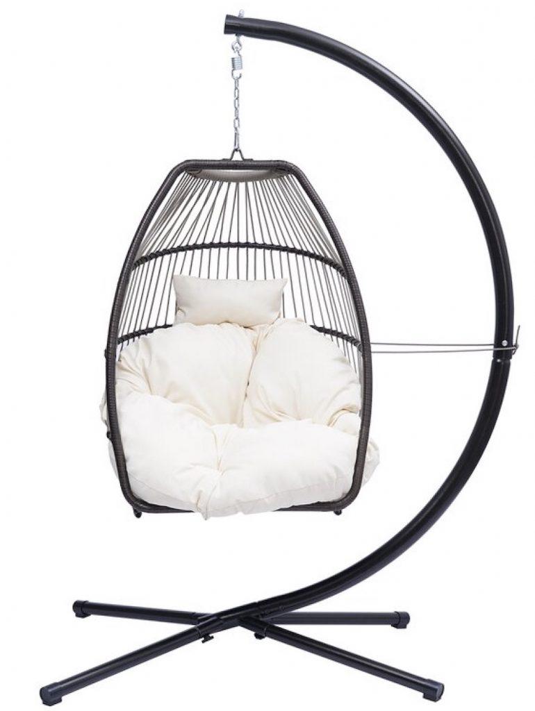 Rattan Swing Hammock Egg Chair #HangingChair #HangingRattanChair #CoastalChair #CoastalDecor #BeachHouse