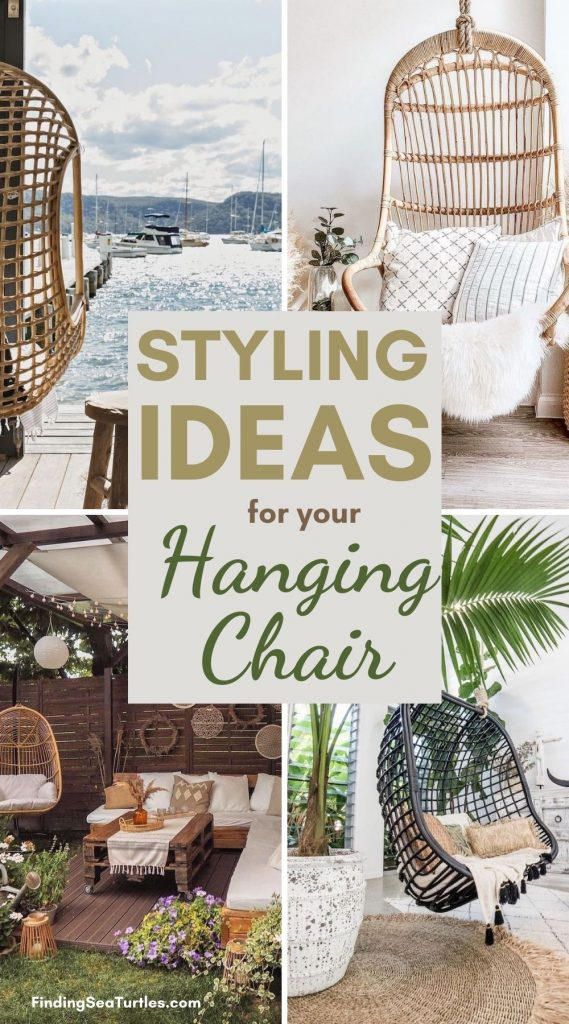 STYLING Ideas for your Hanging Chair #HangingChair #HangingRattanChair #CoastalChair #CoastalDecor #BeachHouse