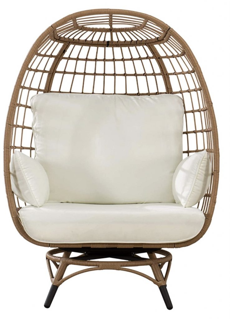 Sunjoy Simon Swivel Egg Cuddle Chair #Chairs #EggChairs #BohoDecor #CoastalDecor #BeachHouse