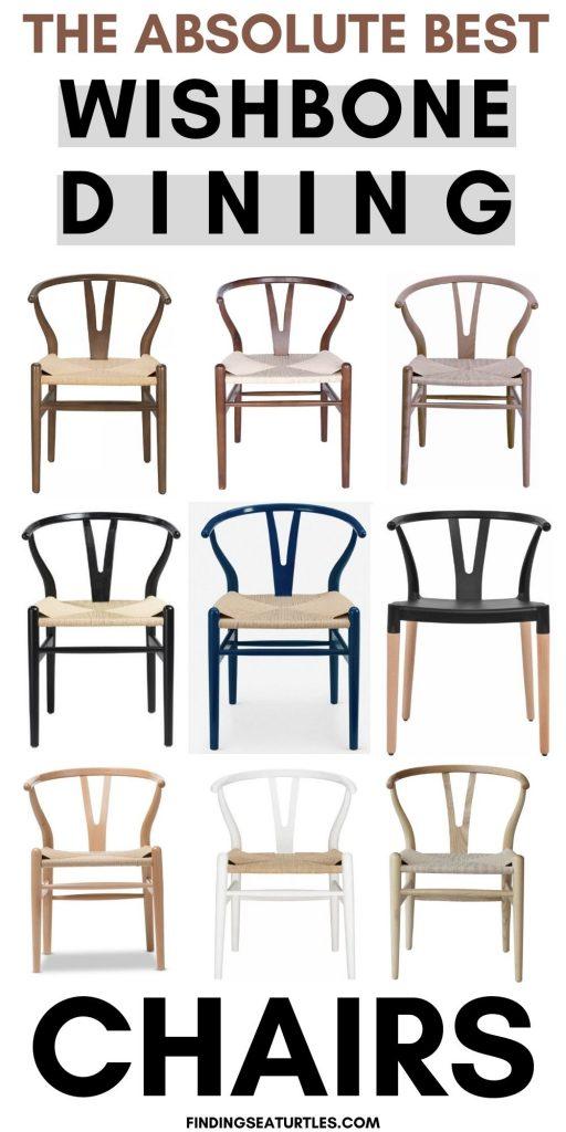 Wishbone Chairs THE ABSOLUTE BEST WISHBONE DINING CHAIRS #Chairs #WishboneChairs #CoastalDecor #BeachHouse