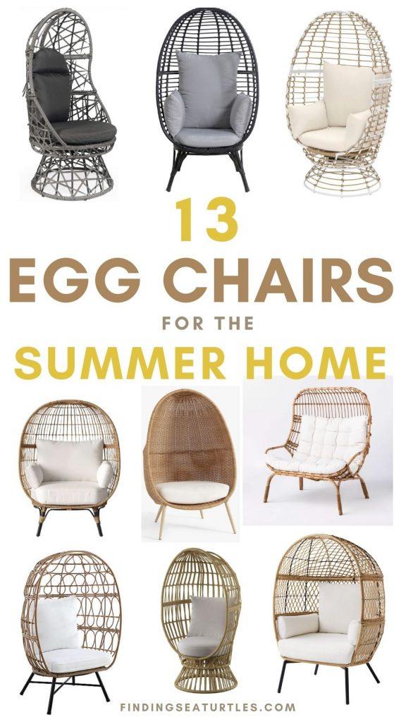 13 Egg Chairs for the Summer Home #Chairs #EggChairs #BohoDecor #CoastalDecor #BeachHouse