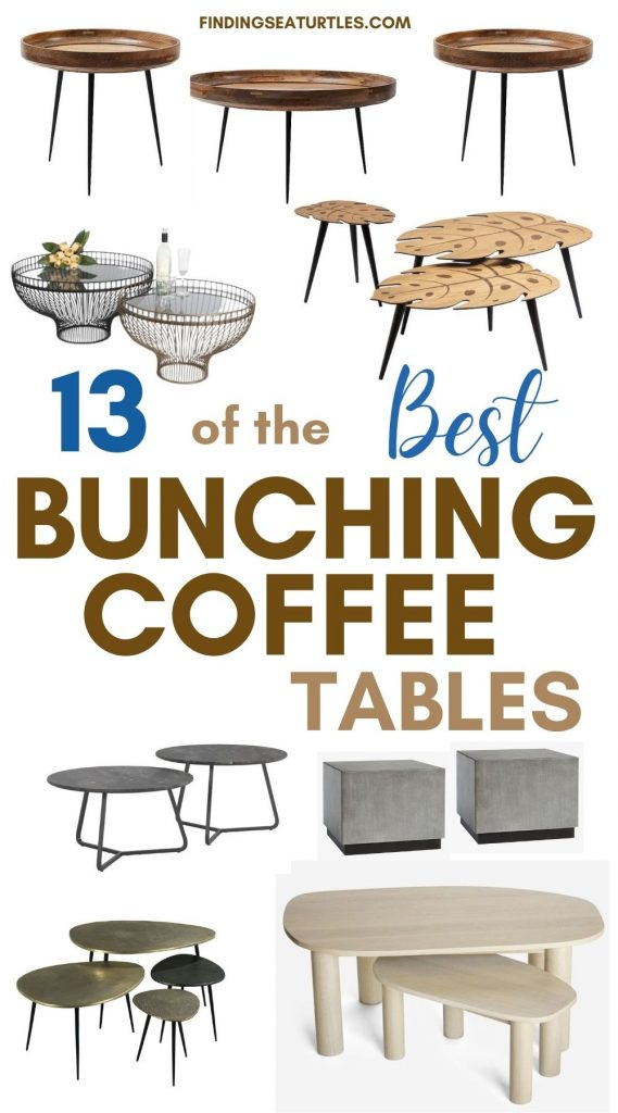 13 of the Best Bunching Coffee Tables #CoffeeTables #CoastalCoffeeTables #BohoCoastal #CoastalDecor #HomeDecor