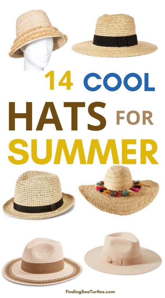 Best Summer Hats 14 Cool Hats for Summer #hats #SummerHats #bythesea #beachlife #beachvibes #summer #coastalstyle #coastalliving #beachgear