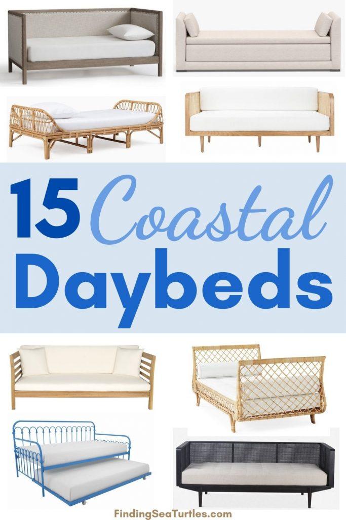 15 Coastal Daybeds #Daybeds #CoastalDecor #HomeDecor #BeachHouse