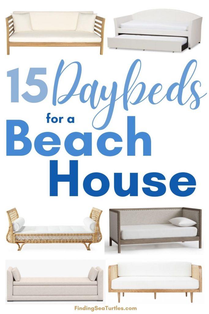 15 Daybeds for a Beach House #Daybeds #CoastalDecor #HomeDecor #BeachHouse