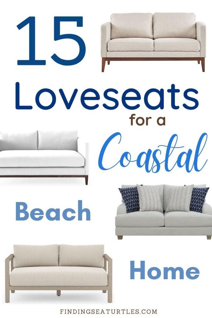 15 Loveseats for the Coastal Beach Home #Coastal #Loveseat #CoastalSofas #CoastalLoveseat #LivingRoom #CoastalLivingRoom #SmallSpaces #SmallSpaceSofas #CoastalDecor #HomeDecor #CoastalHomeDecor #CoastalHome #CoastalLiving #BeachHouse #SeasideStyle #LakeHouse #SummerHouse