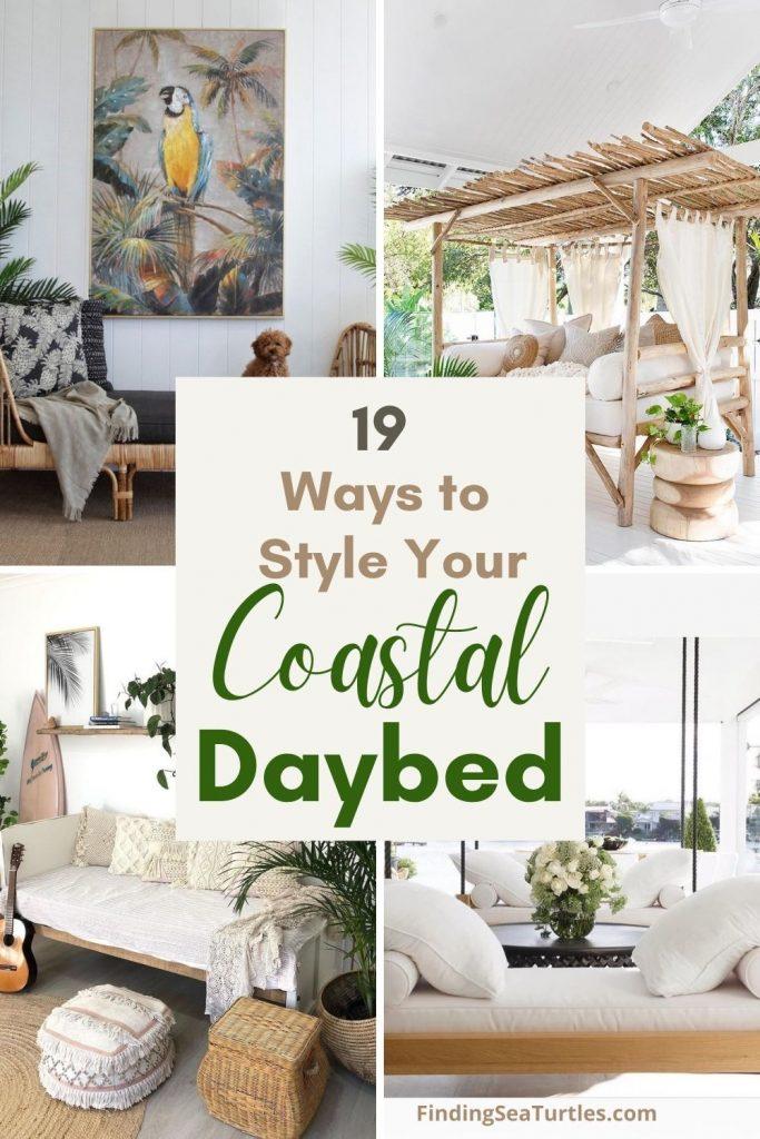 19 Ways to Style Your Coastal Daybed #Daybeds #CoastalDecor #HomeDecor #BeachHouse #Inspiration