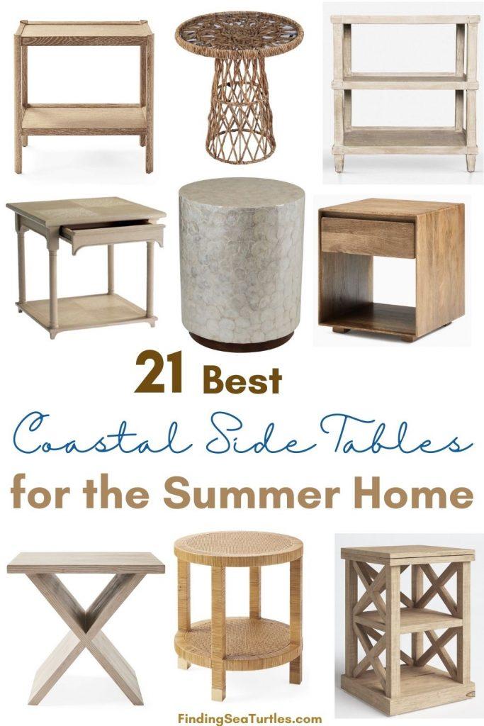 Coastal Side Tables 21 Best Coastal Side Tables for the Summer Home #CoastalDecor #HomeDecor #BeachHouse