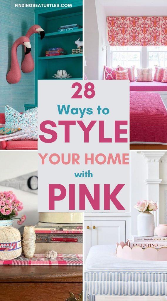 28 ways to style your home with Pink #Pink #PinkAccessories #Coastal #CoastalPinkDecor #BohoCoastal #CoastalDecor #HomeDecor