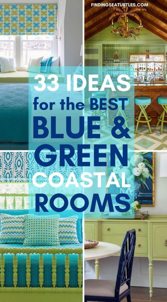 33 IDEAS for the Best Blue Green Coastal Rooms #BlueGreenRooms #BlueGreenInteriors #Coastal #CoastalHomeDecor #HomeDecor #LivingRoomDecor