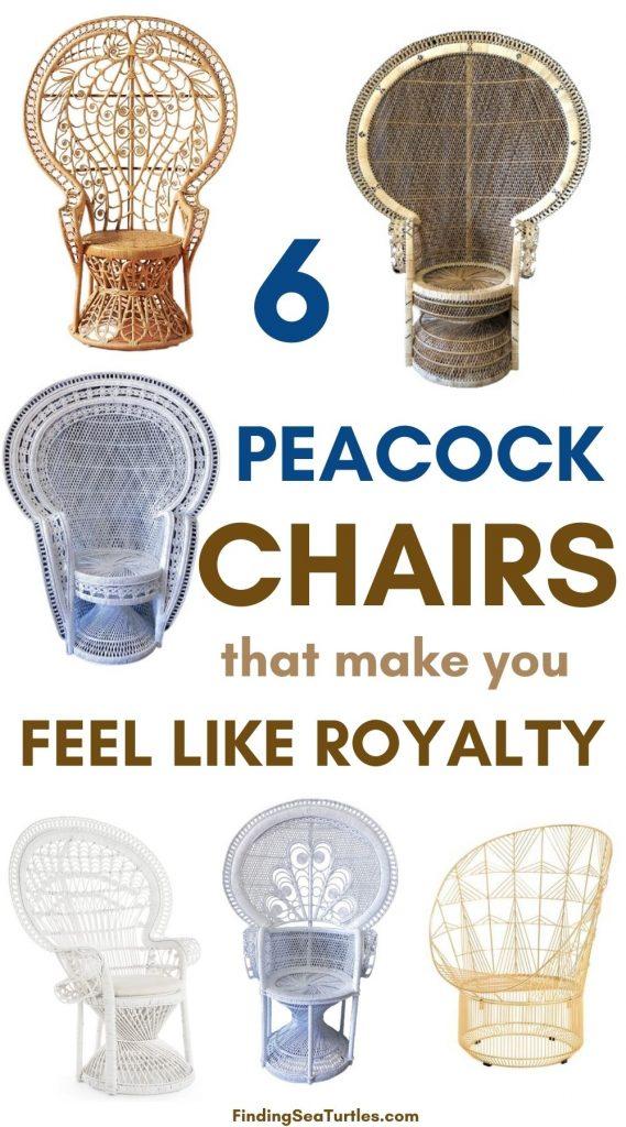 6 PEACOCK Chairs that make you feel like royalty #Chairs #PeacockChair #BohoDecor #CoastalDecor #BeachHouse