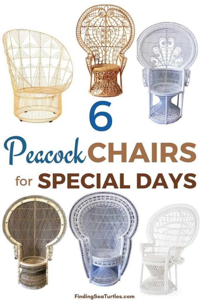 6 Peacock Chairs for Special Days #Chairs #PeacockChair #BohoDecor #CoastalDecor #BeachHouse