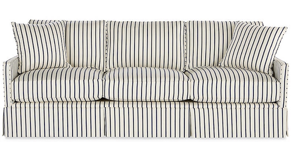 Blue and White Stripes Styling Ideas Auburn Sofa Sofas, Blue and White Stripes, Coastal Decor, Beach House, Inspiration