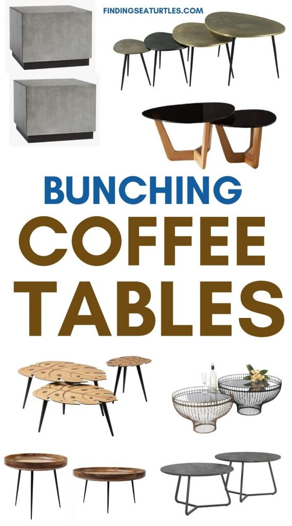Bunching COFFEE TABLES #CoffeeTables #CoastalCoffeeTables #BohoCoastal #CoastalDecor #HomeDecor
