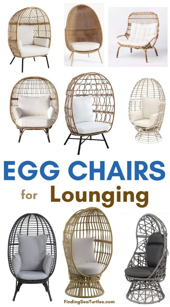 Egg Chairs for Lounging #Chairs #EggChairs #BohoDecor #CoastalDecor #BeachHouse