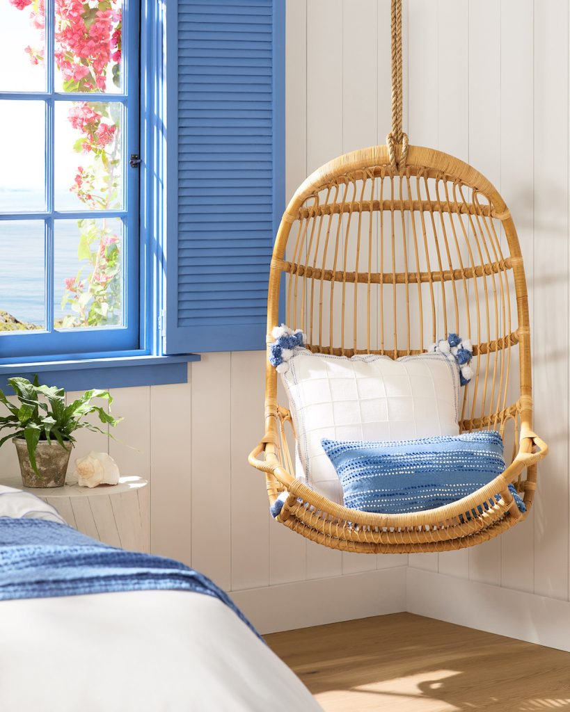 Hanging Rattan Chair #HangingChair #HangingRattanChair #CoastalChair #CoastalDecor #BeachHouse