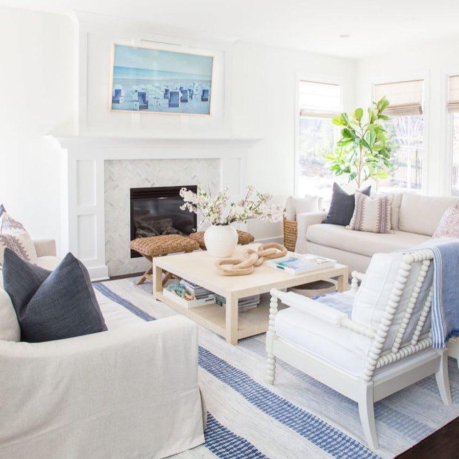 Inspo 1 #Sofas #CoastalSofas #BlueandWhiteStripedSofas #CoastalDecor #BeachHouse