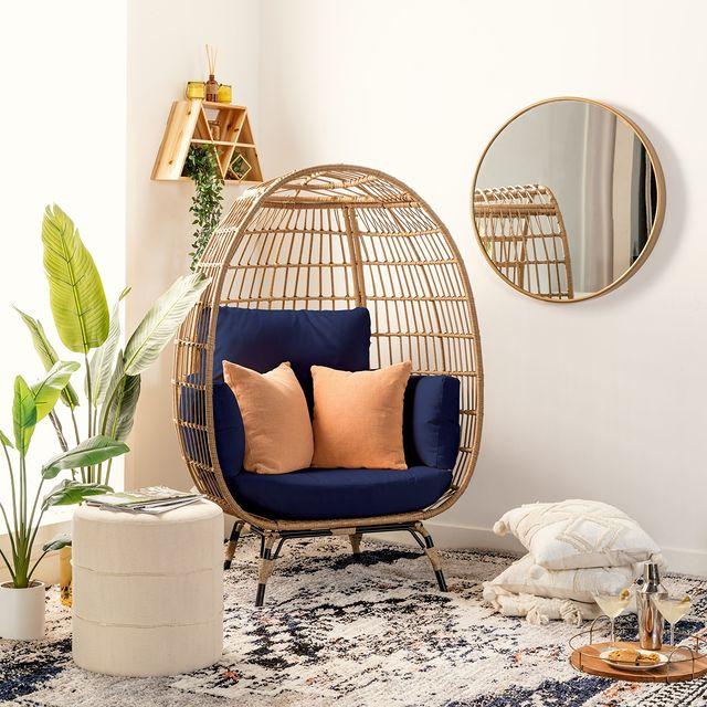 Egg Chair Styling Ideas Inspo 10 #Chairs #EggChairs #BohoDecor #CoastalDecor #BeachHouse