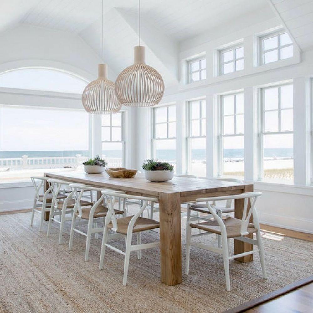 Inspo 11 #Chairs #WishboneChairs #DiningRoom #CoastalDecor #BeachHouse