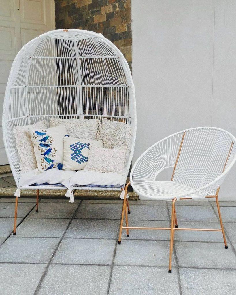 Egg Chair Styling Ideas Inspo 13 #Chairs #EggChairs #BohoDecor #CoastalDecor #BeachHouse
